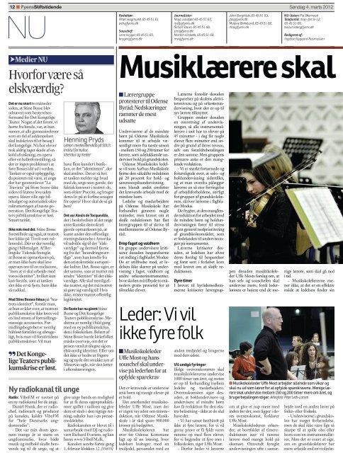 Musiklærere skal arbejde mere - Dansk Musikpædagogisk Forening