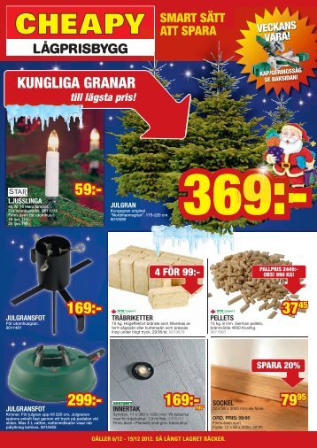 Reklamblad 6 december - Cheapy