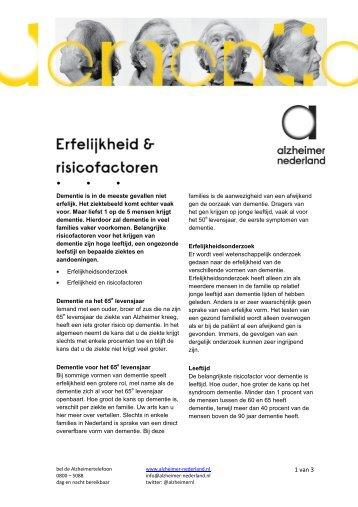 Erfelijkheid en risicofactoren.pdf - Alzheimer Nederland