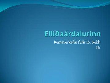 Elliðaárdalurinn-glósur