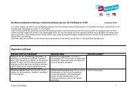 overzicht advisering van de CG-Raad en CSO - Site-Supply