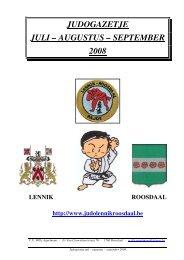 judogazetje juli – augustus – september 2008 - Judoclubs Lennik