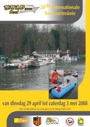 van dinsdag 29 april tot zaterdag 3 mei 2008 - Yachting Club Geel