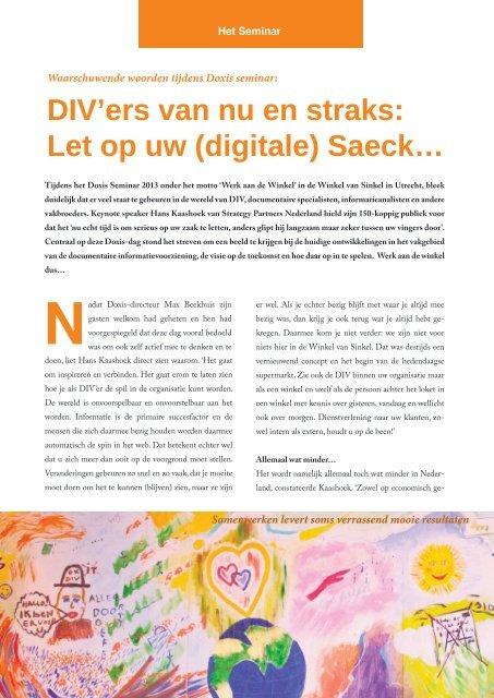Of klik hier om het magazine te downloaden en ... - DocumentWereld