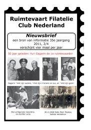 Nieuwsbrief 2-2011 Ruimtevaart Filatelie Club ... - Postzegelblog