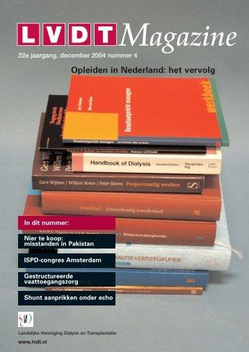 01-12-2004 LVDT-Magazine Nummer 4 - Landelijke Vereniging ...