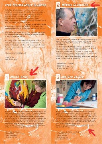 Open Atelierdagen 2006 - Stichting ART= Helmond