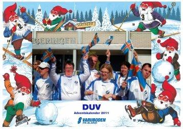 Adventskalender 2011 - DUV på Åland