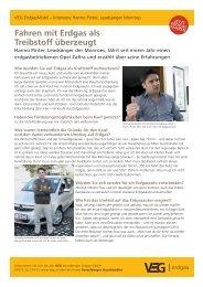 Fahren mit Erdgas als Treibstoff überzeugt