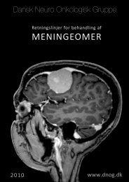 Retningslinjer for behandling af meningeomer - Dansk Neurologisk ...