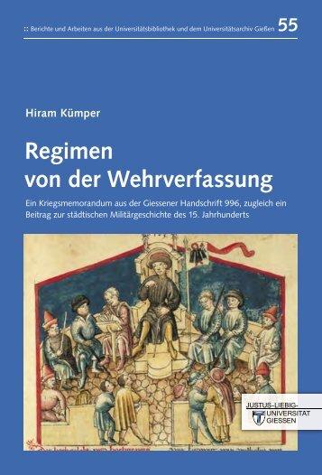 55 Hiram Kümper Regimen von der Wehrverfassung