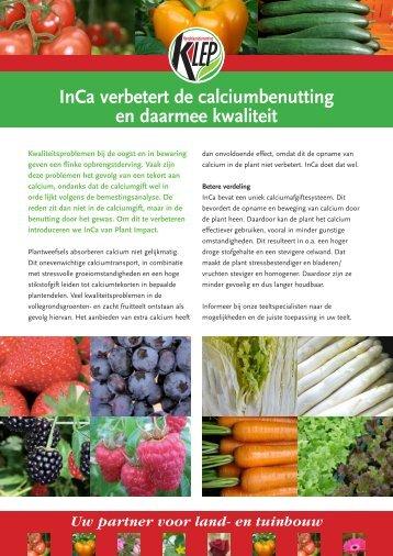 InCa verbetert de calciumbenutting en daarmee kwaliteit