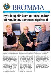 Ny tidning för Bromma-pensionärer ett resultat av sammanslagningen!