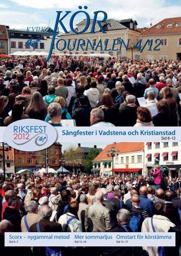 Nr 4/2012 - Sveriges Kyrkosångsförbund