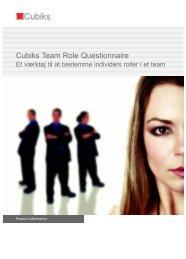 Cubiks Team Role Questionnaire - Cubiks.com