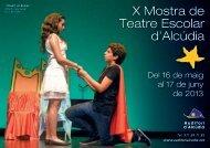 X Mostra de Teatre Escolar d'Alcúdia - Ajuntament d'Alcúdia