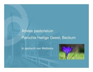 Inrichting pastorietuin, Beckum - Het Oversticht