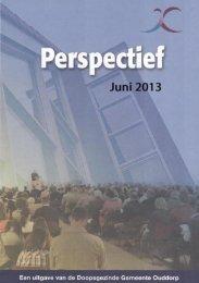 Perspectief juni 2013 - Doopsgezinde Gemeente Ouddorp