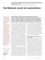 Het Rijnlands model als inspiratiebron - Rijnland-weblog