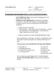 Övergripande beskrivning av kvalitetssystemet - Jack Midhage