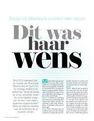 Lees het interview met Romy en Maxime in Intens nr 9, 2013