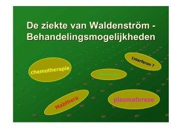 De ziekte van Waldenström - Behandelingsmogelijkheden - CMWP