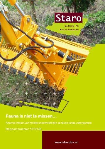 Fauna is niet te missen… - Natuurplatform Drentsche Aa