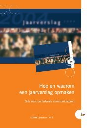 Brochure Rapport Annuel N - Fedweb - Belgium