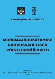 MURDMAASUUSATAMISE RAHVUSVAHELISED ... - Eesti Suusaliit
