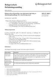 Bolagsverkets föreskrifter om elektronisk ingivning av ...