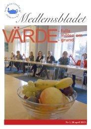 Medlemsbladet nr 1/2012 - Svensk sjuksköterskeförening