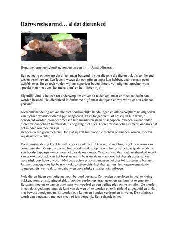 Hartverscheurend… al dat dierenleed - GFC Nieuws