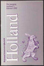 24e jaargang nummer 1 februari 1992 - Holland Historisch Tijdschrift