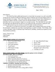May 05, 2013 - John Paul II Catholic School