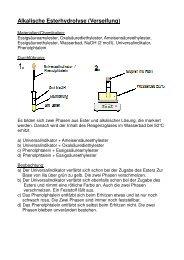 Alkalische Esterhydrolyse (Verseifung)