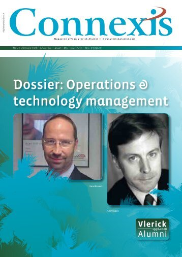 Dossier: Operations & technology management - Vlerick Alumni