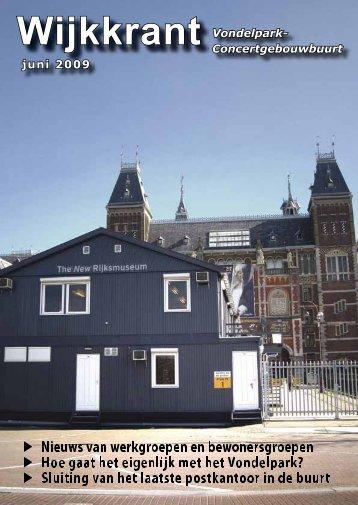 Wijkkrant Vondelpark- Concertgebouwbuurt juni 2009 - Wijkcentrum ...