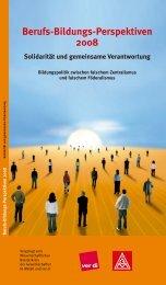Berufs-Bildungs-Perspektiven 2008 - Netzwerk Weiterbildung