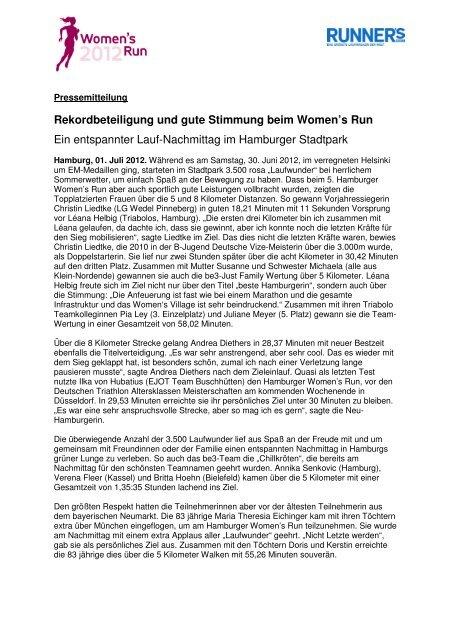 Rekordbeteiligung und gute Stimmung beim Women's Run Ein ...