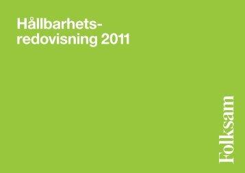 Hållbarhetsredovisning 2011 - KPA
