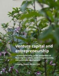 Venture capital and entrepreneurship - Mikrofinansinstitutet