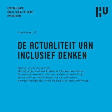 DE ACTUALITEIT VAN INCLUSIEF DENKEN - Hogeschool Utrecht