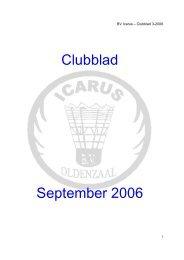 Clubblad September 2006 - Badmintonvereniging Icarus