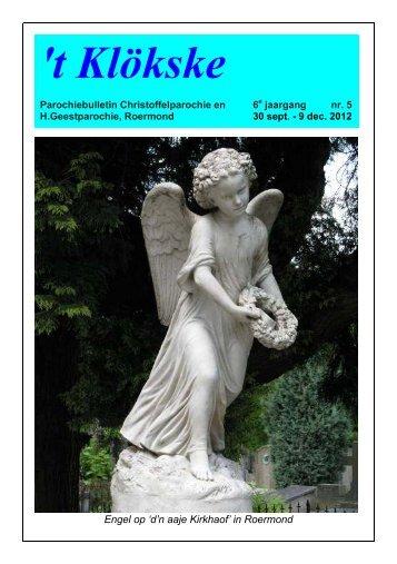 Het Klökske Jaargang 6 no 5 (1 oktober - 9 dec 2012) - Roermond ...