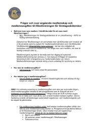 Frågor och svar angående medlemskap och medlemsavgiften till ...