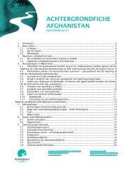 achtergrondfiche afghanistan - Vluchtelingenwerk Vlaanderen