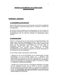 Richtlijn van de Minister van Justitie inzake verkeersagressie ...