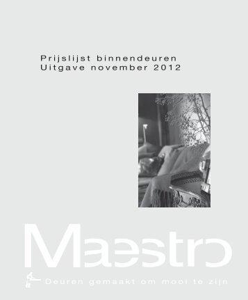 0122737 Maestro prijslijst binnendeuren.indd - Maestro Deuren