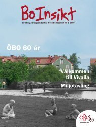 Boinsikt 1-06 - Örebrobostäder AB