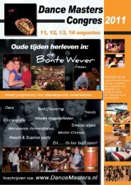 Dance Masters congres 2011.indd